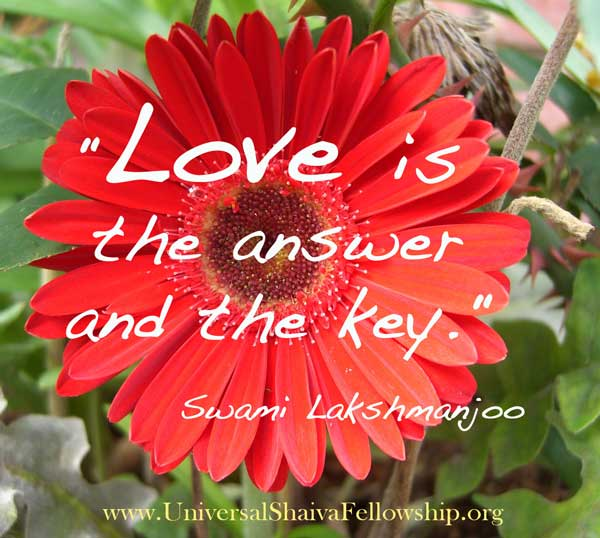 Love is the answer and the key ~Swami Lakshmanjoo